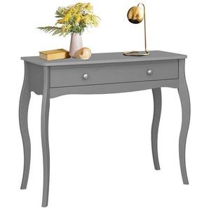 Konsolen Tisch in Grau Barock Design