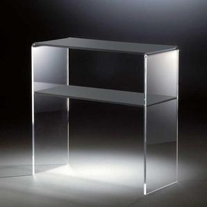 Konsolentisch aus Acrylglas Dunkelgrau