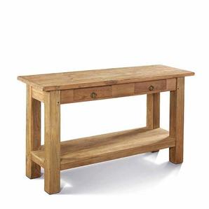Konsolentisch aus Teak Massivholz 2 Schubladen