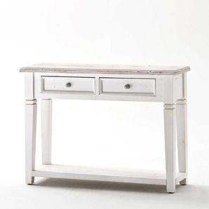 Konsolentisch aus wei�em Kieferholz Vintage Design