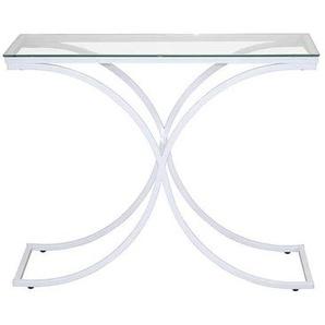Konsolentisch in Weiß Glasplatte
