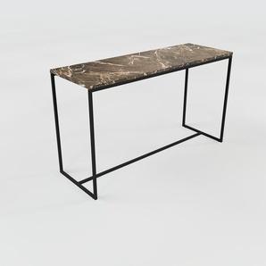 Konsolentisch Marmor, Brauner Emperador - Eleganter Konsolentisch: Beste Qualität, einzigartiges Design - 121 x 71 x 42 cm, konfigurierbar