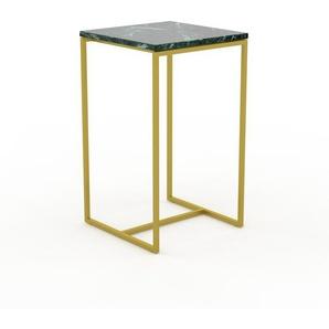 Konsolentisch Marmor, Grüner Guatemala, mit Gold - Eleganter Konsolentisch: Beste Qualität, einzigartiges Design - 42 x 71 x 42 cm, konfigurierbar