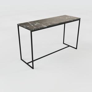 Konsolentisch Marmor, Schwarzer Marquina - Eleganter Konsolentisch: Beste Qualität, einzigartiges Design - 121 x 71 x 42 cm, konfigurierbar