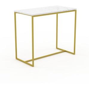 Konsolentisch Marmor, Weißer Carrara, mit Gold - Eleganter Konsolentisch: Beste Qualität, einzigartiges Design - 81 x 71 x 42 cm, konfigurierbar