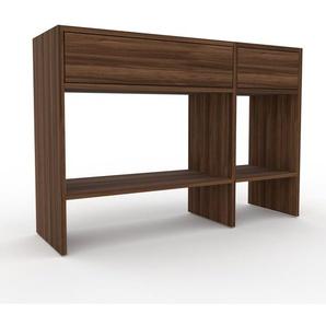 Konsolentisch Nussbaum, Holz - Eleganter Konsolentisch: Beste Qualität, einzigartiges Design - 116 x 80 x 35 cm, konfigurierbar