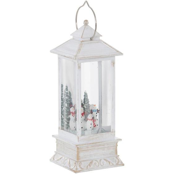 KONSTSMIDE LED Laterne Schneemänner, Warmweiß H:27,5 cm weiß Kerzenhalter Kerzen Laternen Wohnaccessoires Lampen