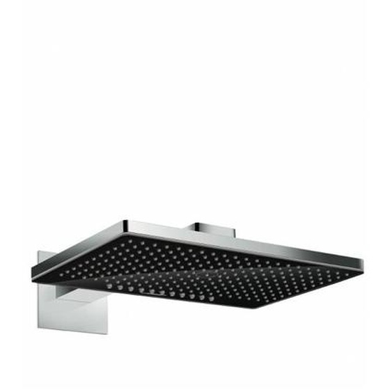 Hansgrohe Kopfbrause Rainmaker Select 460 2jet schwarz/chrom mit Brausearm 450mm, 24005600