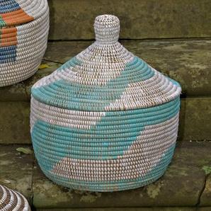 Korb Ethnic Alibaba Baba aus Gras/Kunststoff