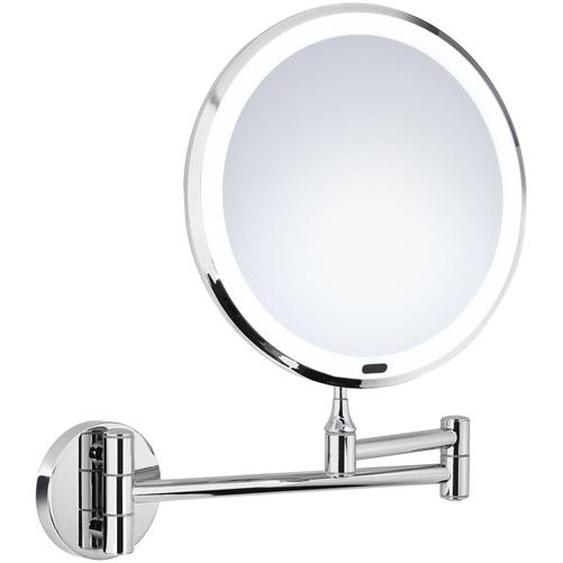 Kosmetikspiegel, Silber, Kunststoff