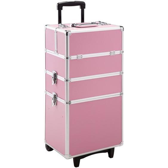 Kosmetiktrolley mit 3 Etagen - pink