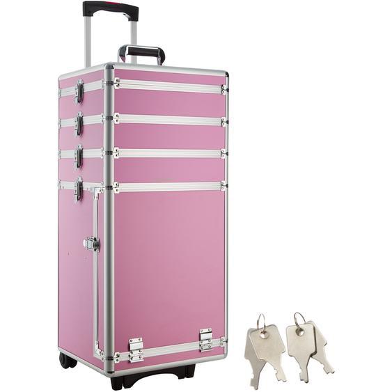 Kosmetiktrolley mit 4 Etagen - pink
