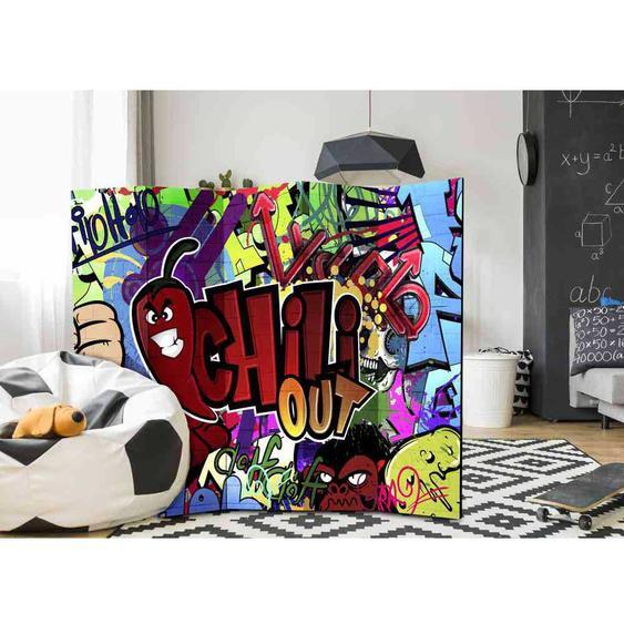 Krasser Paravent Graffiti Motiv jungen Design
