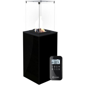 KRATKI Gaskamin PATIO MINI Glas Schwarz Ferngesteuert Gasheizgerät 4-8,2 kW