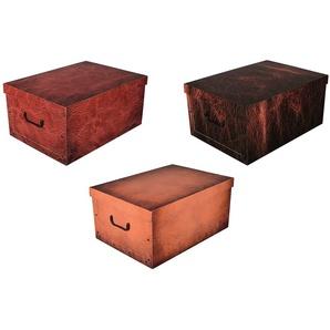 KREHER Aufbewahrungsbox »Leather«, 3er-Set