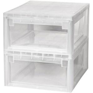 KREHER Aufbewahrungsbox »2x 12 Liter, mit Schublade« 2er Set