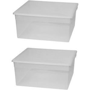 KREHER Aufbewahrungsbox »2x 23 Liter, mit Deckel« 2er Set