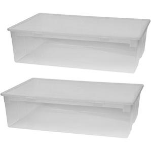 KREHER Aufbewahrungsbox »2er Set Aufbewahrungsboxen mit Deckel, Größe XL«