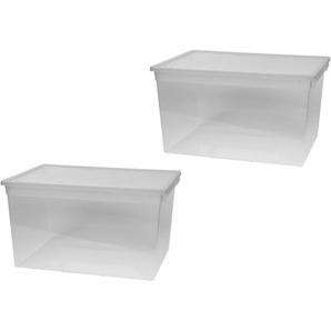 KREHER Aufbewahrungsbox »2x 48 Liter, mit Deckel« 2er Set