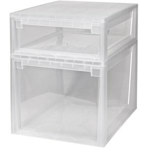 KREHER Aufbewahrungsbox »1x 22 Liter, 1x 50 Liter, mit Schublade« 2er Set