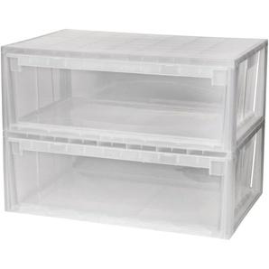KREHER Aufbewahrungsbox »2x 36 Liter, mit Schubladenboxen«
