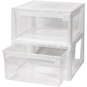 KREHER Aufbewahrungsbox »2x 23 Liter, mit Schubladen« 2er Set