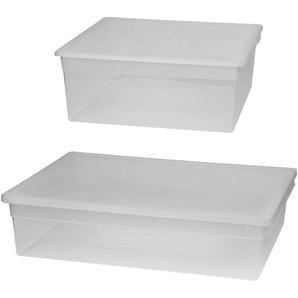 KREHER Aufbewahrungsbox »1x 23 Liter, 1x 36 Liter, mit Deckel« 2er Set
