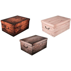 KREHER Aufbewahrungsbox »Wood«, 3er-Set