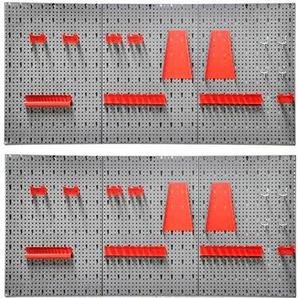 KREHER Lochwand , 2 Werkzeugwände, inkl. Hakenset, Werkzeughaltersort