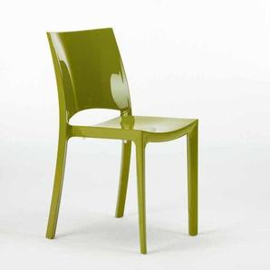 Küche- und Barstuhl glänzend Grand Soleil SUNSHINE Modernes Design aus Polypropylen | Grün