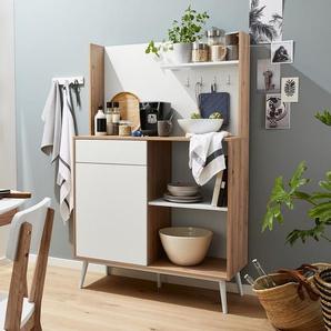 Küchen-Multifunktionsschrank - braun - Holz -