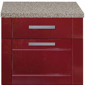 Küchen-Unterschrank in Rot 50 cm breit