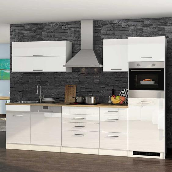 Küchenblock in Hochglanz Weiß Made in Germany (12-teilig)