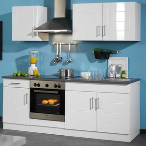Küchenmöbel Set in Weiß Herd (6-teilig)