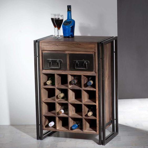 Küchenregal mit Flaschenfächern Used Look