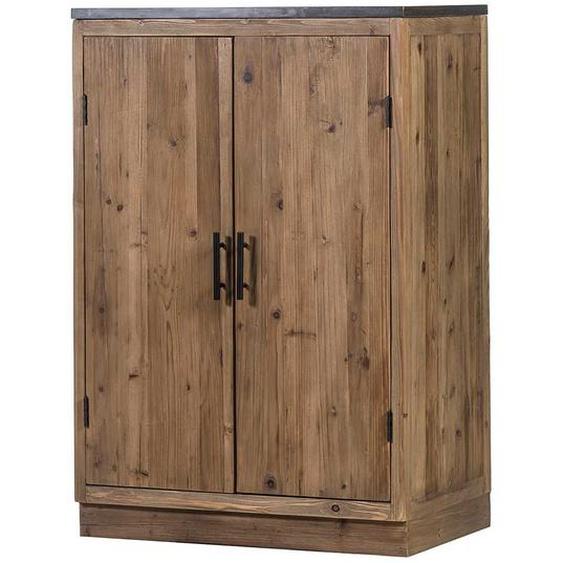 Küchenschrank aus Massivholz und Stein 120 cm hoch