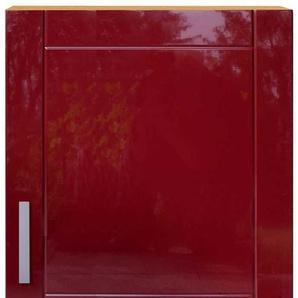 K�chenschrank in Rot Buche Dekor