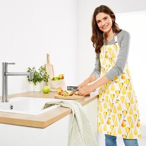 Küchenschürze - gelb - 100% Baumwolle -