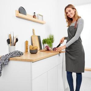 Küchenschürze - grau - 100% Baumwolle -