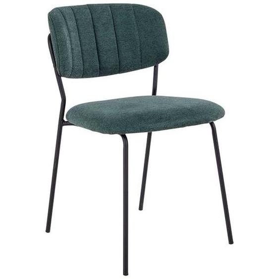 Küchenstühle in Grün Webstoff Skandi Design (2er Set)