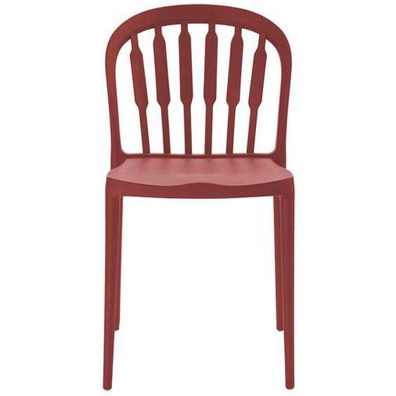 Küchenstühle in Rot Kunststoff (2er Set)