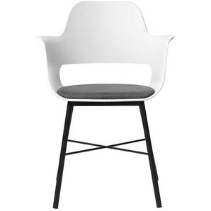Küchenstühle in Weiß und Schwarz Kunststoff und Metall