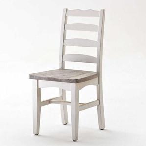Küchenstuhl in Weiß Shabby Chic (2er Set)