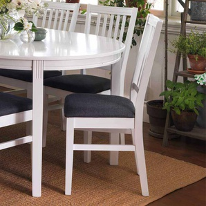 Küchenstuhl Set in Weiß Grau Klassisch (2er Set)