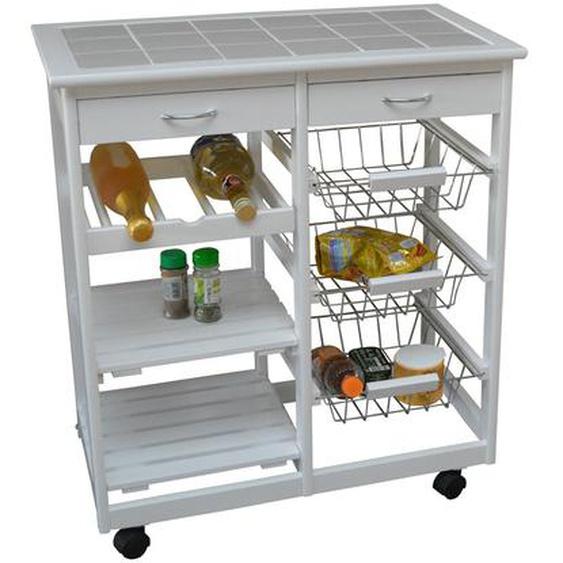Küchenwagen Django mit Fliesenplatte