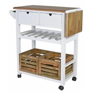 Küchenwagen Landhaus Küchenrollwagen Servierwagen Küchentrolley