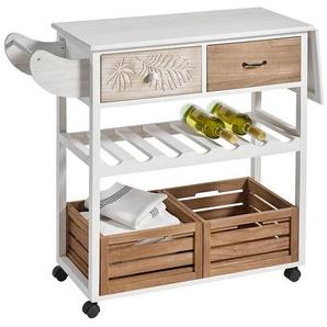 heine home Küchenwagen weiß gewischt