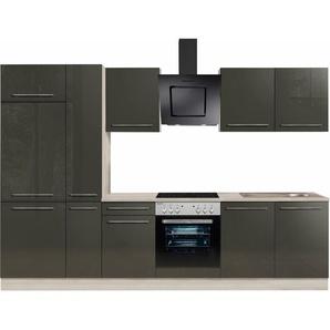 OPTIFIT Küchenzeile, dunkelgrau, »Bern«, mit Schubkästen