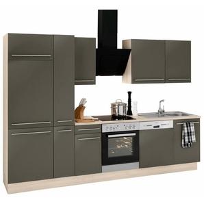 OPTIFIT Küchenzeile »Bern«, schwarz, ohne Aufbauservice, mit Schubkästen