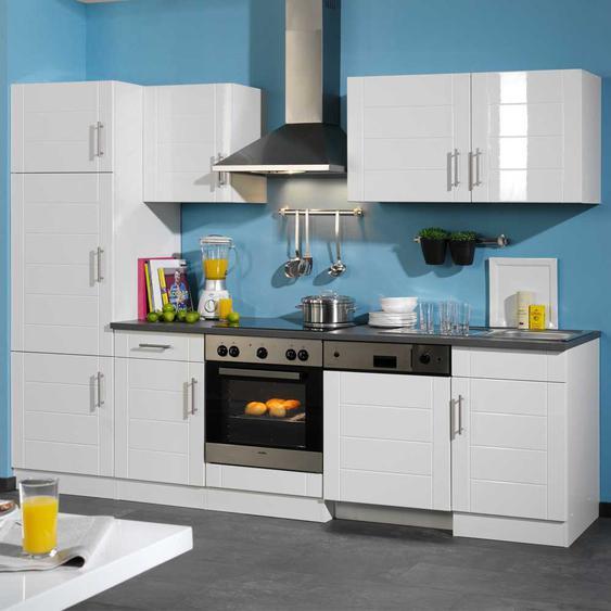 Küchenzeile in Weiß-Anthrazit modern (9-teilig)